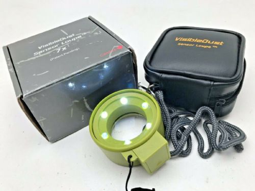 Visible Dust 7x illuminated LED sensor loupe with case and lanyard.